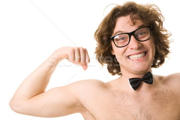 Sterkte portret man tonen zakenman jonge Stockfoto © pressmaster