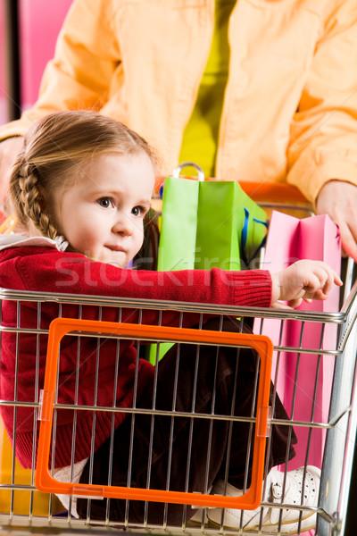 Girl in handcart Stock photo © pressmaster