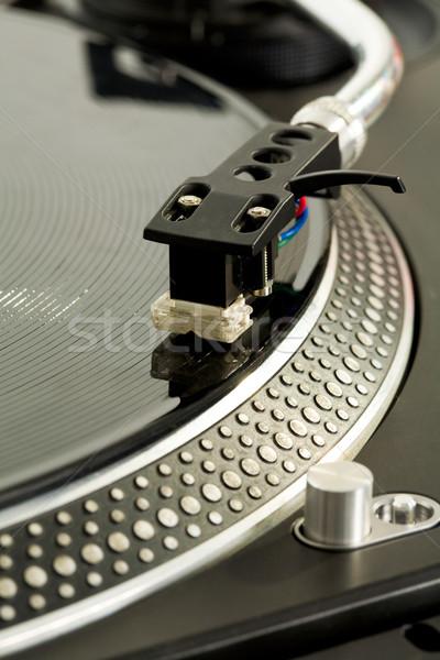 Játszik lemez közelkép lemez zene diszkó Stock fotó © pressmaster