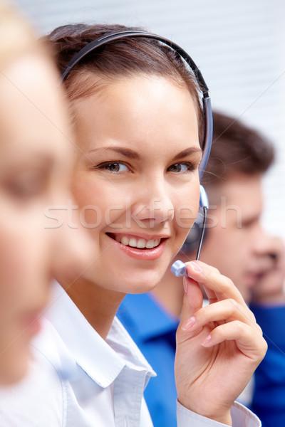 Friendly telephone operator  Stock photo © pressmaster