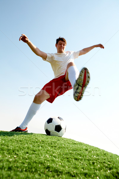 Photo stock: Football · match · portrait · footballeur · balle