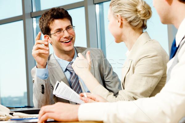 Stockfoto: Werk · portret · zakenman · uitleggen · business · man
