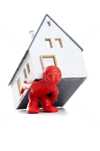 собственность фото человека дома назад Сток-фото © pressmaster