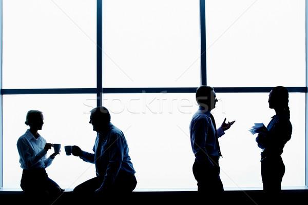 Foto d'archivio: Break · contorno · business · uomo · finestra · imprenditore
