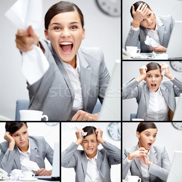 Különböző kollázs üzletasszony dolgozik nap üzlet Stock fotó © pressmaster