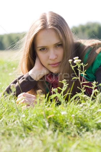 Restful girl Stock photo © pressmaster