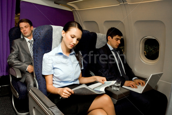In airplane Stock photo © pressmaster