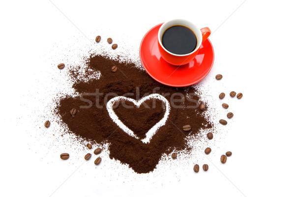 ストックフォト: コーヒー · 愛 · 創造 · 画像 · ホット
