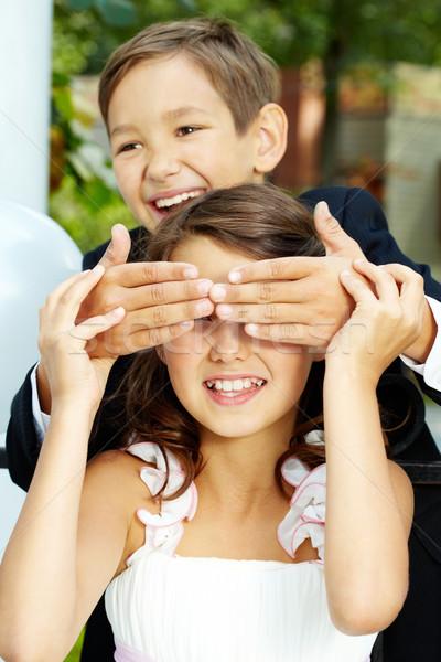 Porträt lachen Junge Bräutigam Augen heiter Stock foto © pressmaster