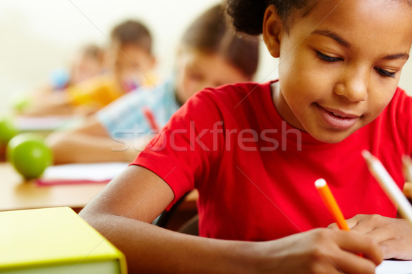 Stock photo: At drawing lesson