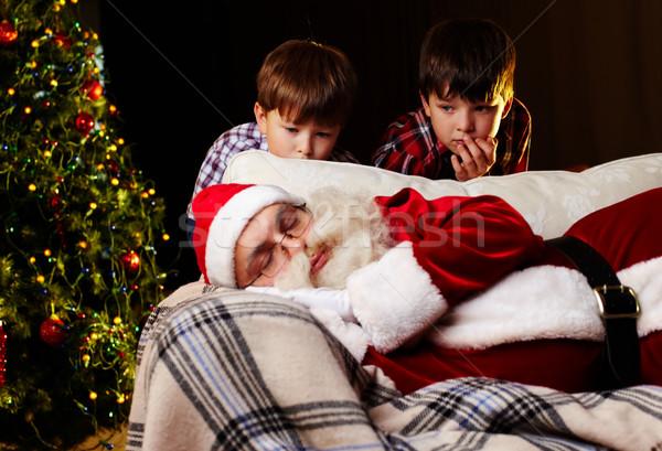 Natale sogno foto babbo natale dormire divano Foto d'archivio © pressmaster