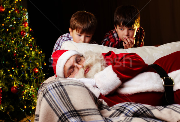 Noël rêve photo dormir canapé Photo stock © pressmaster