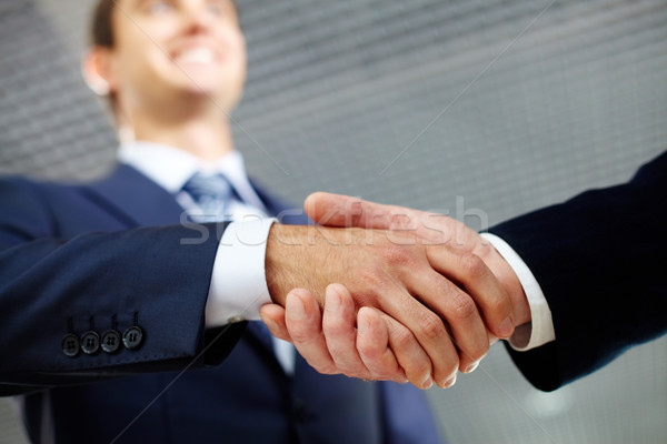 Happy handshake Stock photo © pressmaster