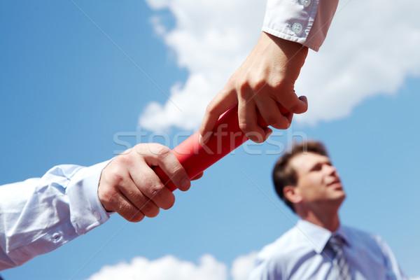Negócio foto pessoas de negócios mãos céu homem Foto stock © pressmaster