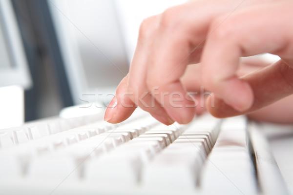 Számítógép munka fotó női kezek toló Stock fotó © pressmaster