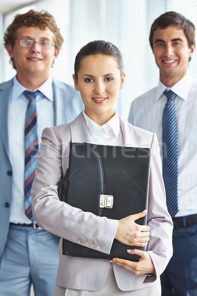 Főnök munkások portré független üzletasszony kollégák Stock fotó © pressmaster