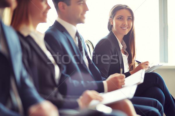 отмечает деловые люди сидят семинара Сток-фото © pressmaster