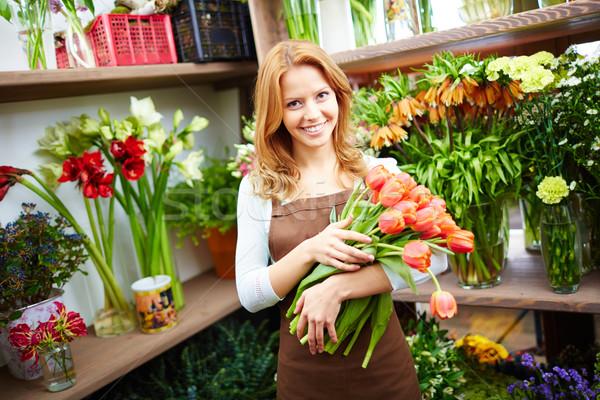 Vendor of flowers Stock photo © pressmaster