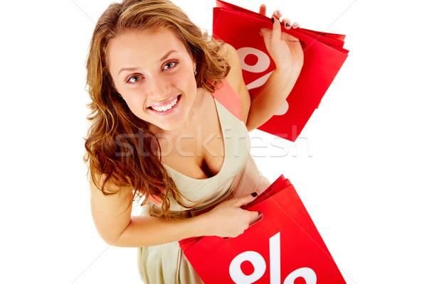 Stock fotó: Idő · eladó · fölött · kilátás · lány · tart
