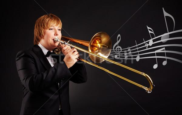 Trombonist Stock photo © pressmaster