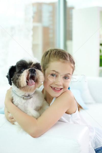 Girl with pet Stock photo © pressmaster