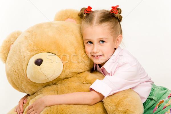 Nina osito de peluche retrato cute nina Foto stock © pressmaster
