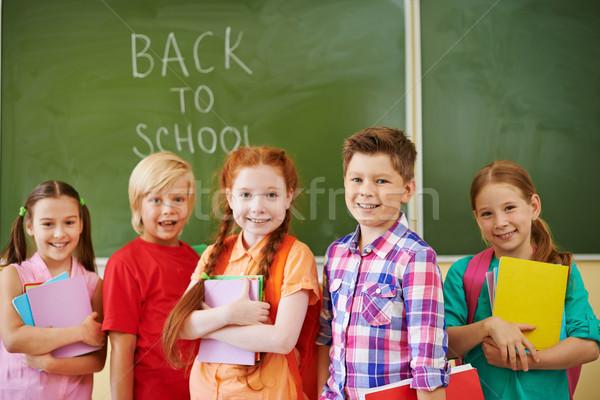 начало школы год портрет дружественный Одноклассники Сток-фото © pressmaster