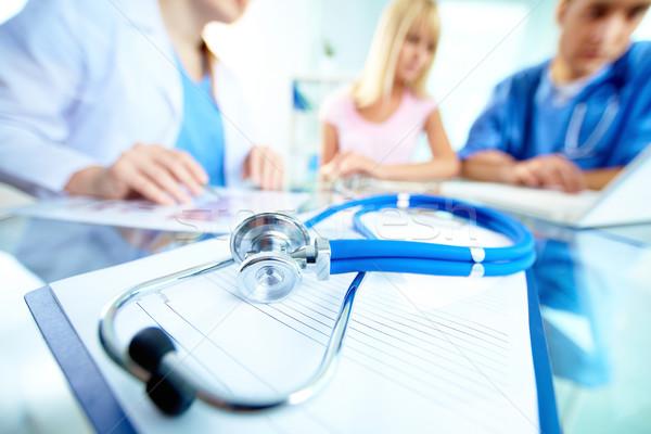 Stethoscope on document Stock photo © pressmaster