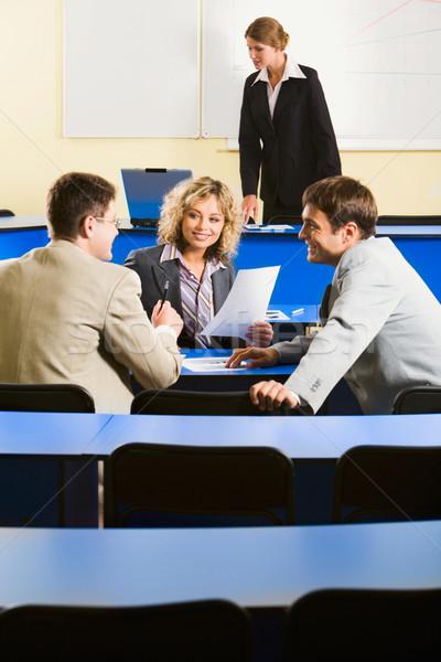 Conversation before conference Stock photo © pressmaster