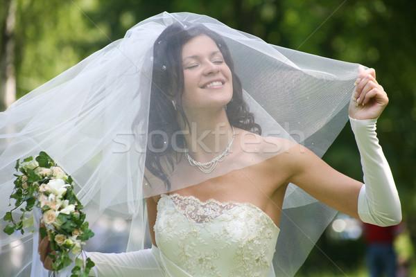 Mutlu gelin portre güzel düğün aşınma Stok fotoğraf © pressmaster
