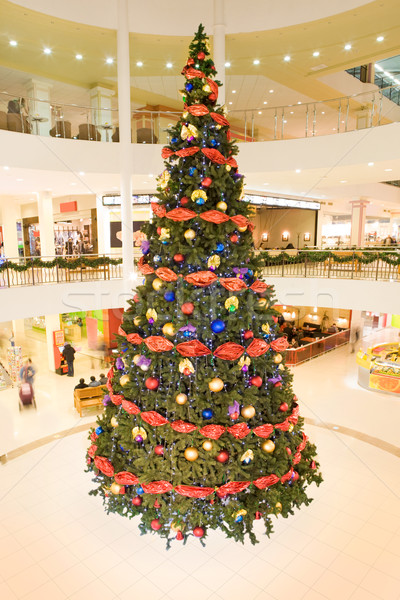 Decorated tree in the trade center Stock photo © pressmaster