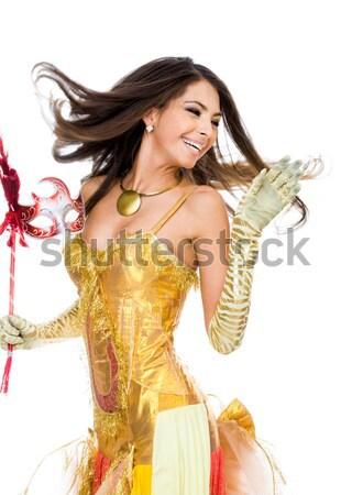 Sevinç portre gülme kız aktris tiyatro Stok fotoğraf © pressmaster