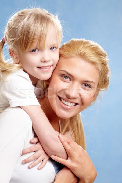 ストックフォト: 家族の肖像画 · 小さな · 幸せ · 女性 · 娘