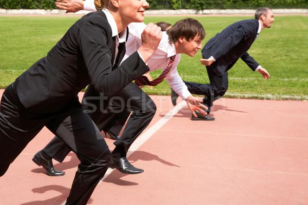 Stock photo: Running people