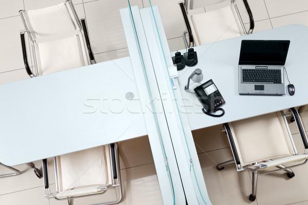Zdjęcia stock: Powyżej · widoku · dwa · granicy · krzesła · działalności