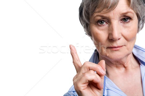 Nő fotó idős női mutatóujj üzlet Stock fotó © pressmaster