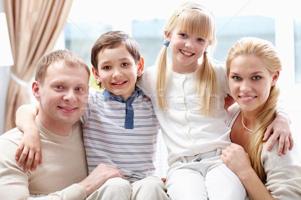 Zdjęcia stock: Pokolenie · rodziców · dwa · dzieci · wszyscy