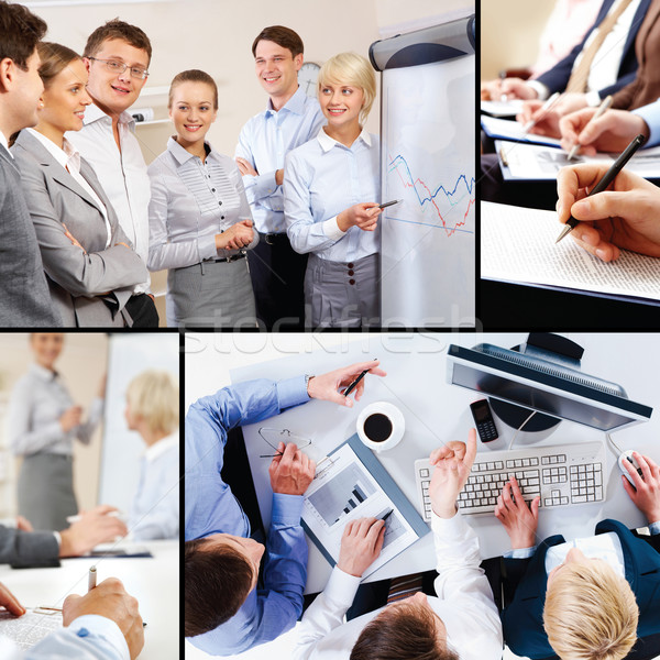 Collage of business interaction Stock photo © pressmaster