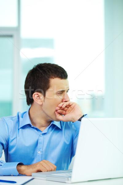 Tédio retrato entediado empresário escritório Foto stock © pressmaster