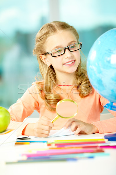 Stock photo: Young geographer