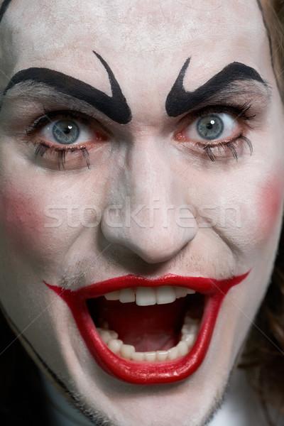 Tragico primo piano espressiva maschio faccia teatrale Foto d'archivio © pressmaster