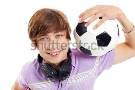 Guy with ball Stock photo © pressmaster