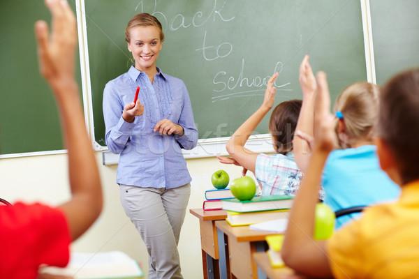 Begin school jaar portret smart leraar Stockfoto © pressmaster