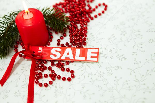 продажи изображение Рождества сжигание свечу Сток-фото © pressmaster