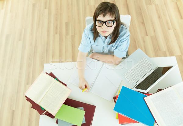 Student bureau afbeelding uitstekend vrouwelijke vergadering Stockfoto © pressmaster