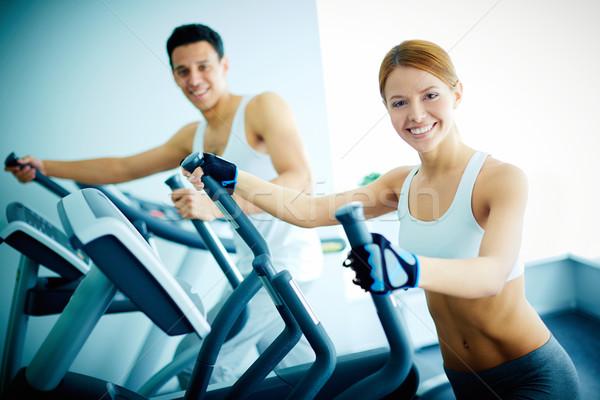 Training in health club Stock photo © pressmaster