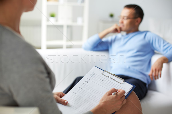 Psychological consultation Stock photo © pressmaster