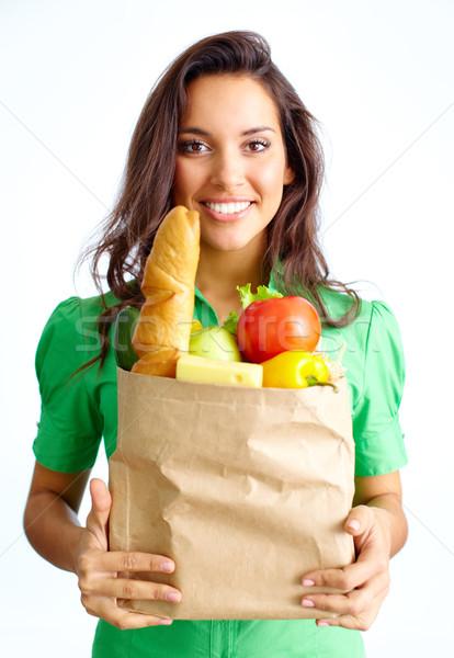 Woman with food Stock photo © pressmaster