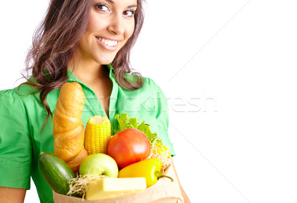 Female with products Stock photo © pressmaster
