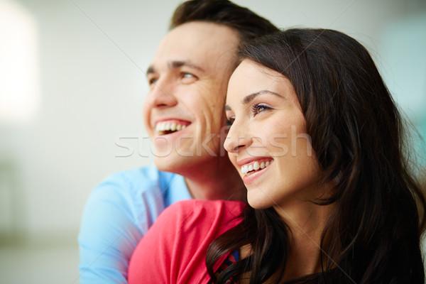 Attrakció portré szerelmi mosolyog fiatal pér család Stock fotó © pressmaster